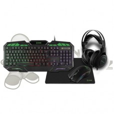 Combo Kit Gamer 4x1 Teclado + Mousepad + Mouse + Headset Xzone GTC-02