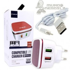 Carregador Turbo 30W Qualcomm Quick Charge 3.0 It-Blue 20402L Cabo Iphone