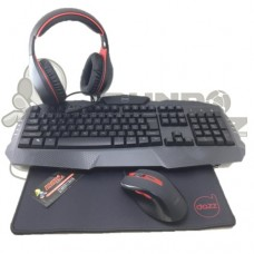 Kit Gamer Dazz 4 em 1 Arsenal Teclado + Mouse + Mousepad + Headset 625237
