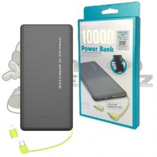 Carregador Portátil  Power Bank Slim  Preto 10000mAh Pineng PN-951