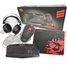 Combo Kit Gamer 4x1 Teclado + Mouse + Mousepad + Headset Redragon Essentials S112