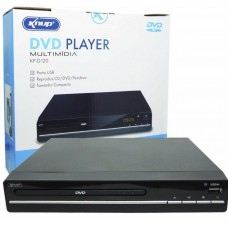 Dvd Player Multimídia Entrada Usb Com Ripping Controle Knup KP-D120