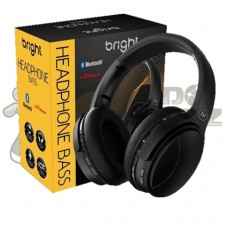 Headphone Bass Bluetooth Preto Bright HP558