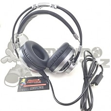 Headset Gamer 7.1 Surround Channel C/ Microfone Led Elg Extreme HGSS71