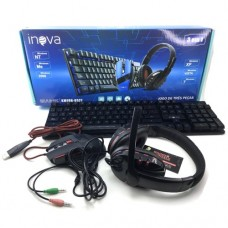 Kit Gamer Teclado, Headset e Mouse Inova KMFON-6527