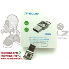 Pen Drive Otg It-blue 32gb Usb 2.0 Flash drive